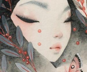 artwork, black, and pastel image