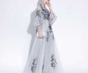 evening dresses, chinese style, and lace appliques image