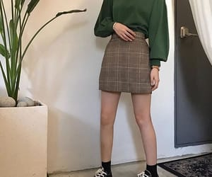 casual, skirt, and fashion image