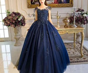 ball gown, beading, and sequins image