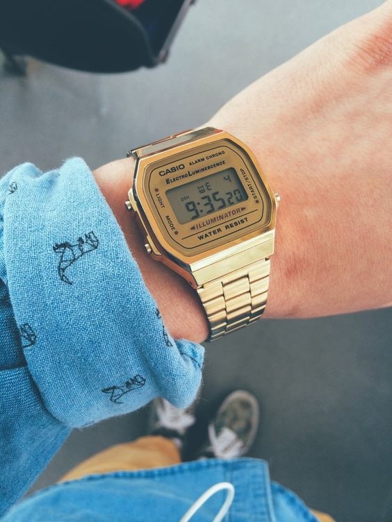 casio, watch, and gold image