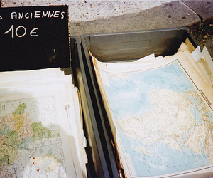 map, vintage, and world image