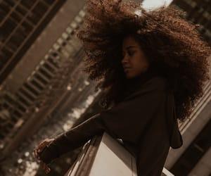 curly hair, girl, and natural hair image
