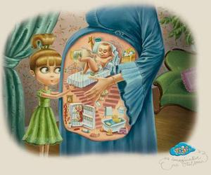 baby, kids, and pregnant image