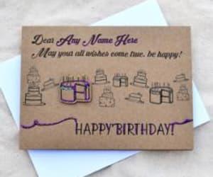 happy birthday, namebday, and birthday cards image