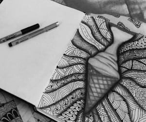 art, zentangle, and black and white image