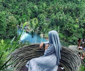 bali, forest, and hijab image