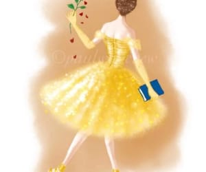 arte, dibujo, and bailarina image
