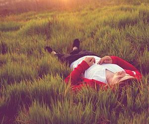 boy, grass, and nature image