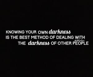 Darkness, quote, and partage image