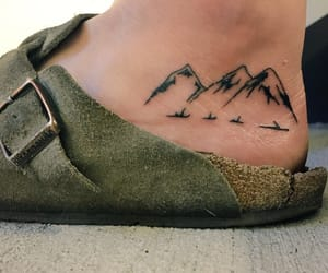 tattoo, mountains, and indie image