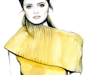 art, drawings, and fashion illustrations image