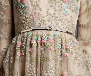 dress, Valentino, and flowers image