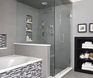 baignoire, bathroom, and carrelage image