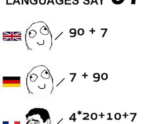 english, number, and french image