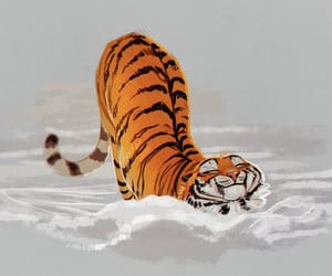 cutie, cute, and tiger image