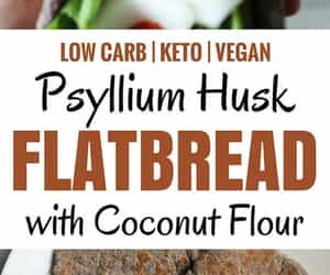 nutrition, flatbread, and lchf image