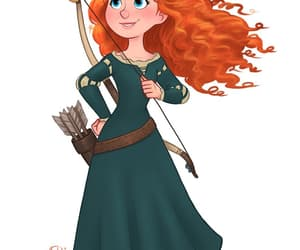 disney, merida, and princess image