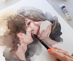 art, boy, and couples image