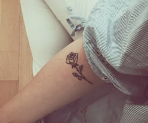 arm, girl, and rose image
