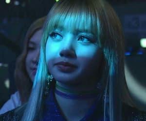 lisa, blackpink, and blue image