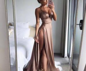 dress, satin dress, and fashion image