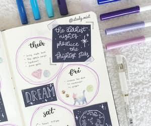 handwritting, planner, and bujo image