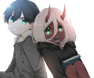 anime, couple, and hiro image