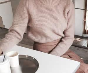 fashion, sweater, and beige image