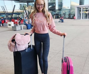 airport, bag, and fashion image