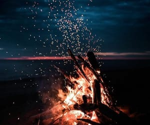 fire, night, and tumblr image