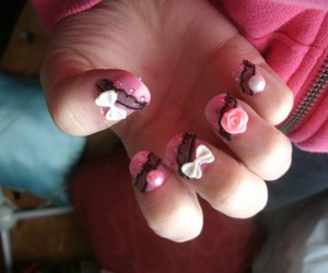etsy, nails, and pink lace image