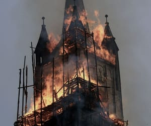 fire, church, and burn image