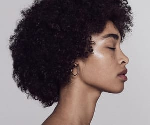 backstage, curly hair, and editorial image