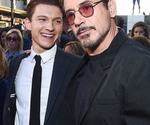 tom holland, Marvel, and robert downey jr image