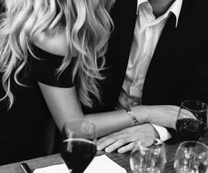 love, black and white, and couple image
