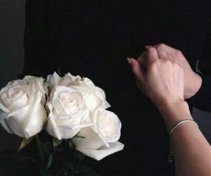 couple, flowers, and hands image