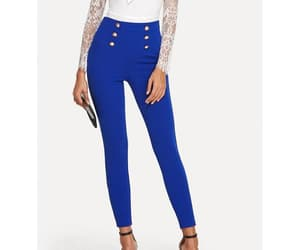 blue pants, bottoms, and women image