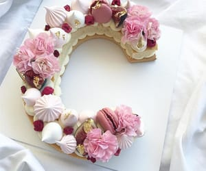 c, flowers, and cake image