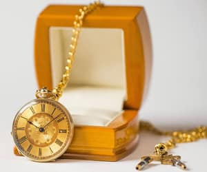 roman numerals, etsy, and gold fashion image