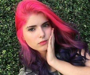 colored hair, grunge, and hair image