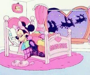 disney, pink, and minnie image