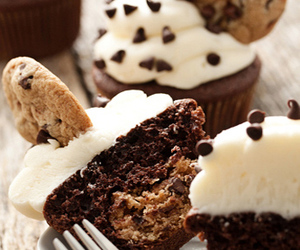 cake, chocolate, and cookie dough image