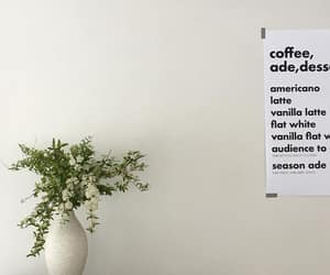coffee, decoration, and flowers image