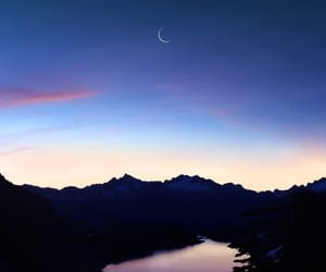 sky, moon, and landscape image