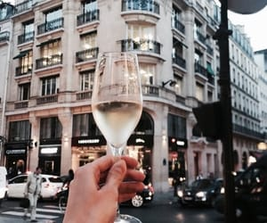 champagne, city, and girl image