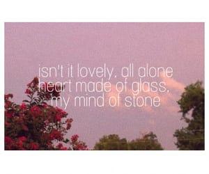 aesthetics, lovely, and Lyrics image
