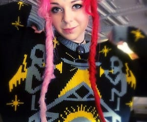 dreads, grunge, and pink dreads image