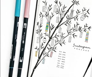 brush pens, inspiration, and bujo image