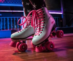 pink and rollerskates image